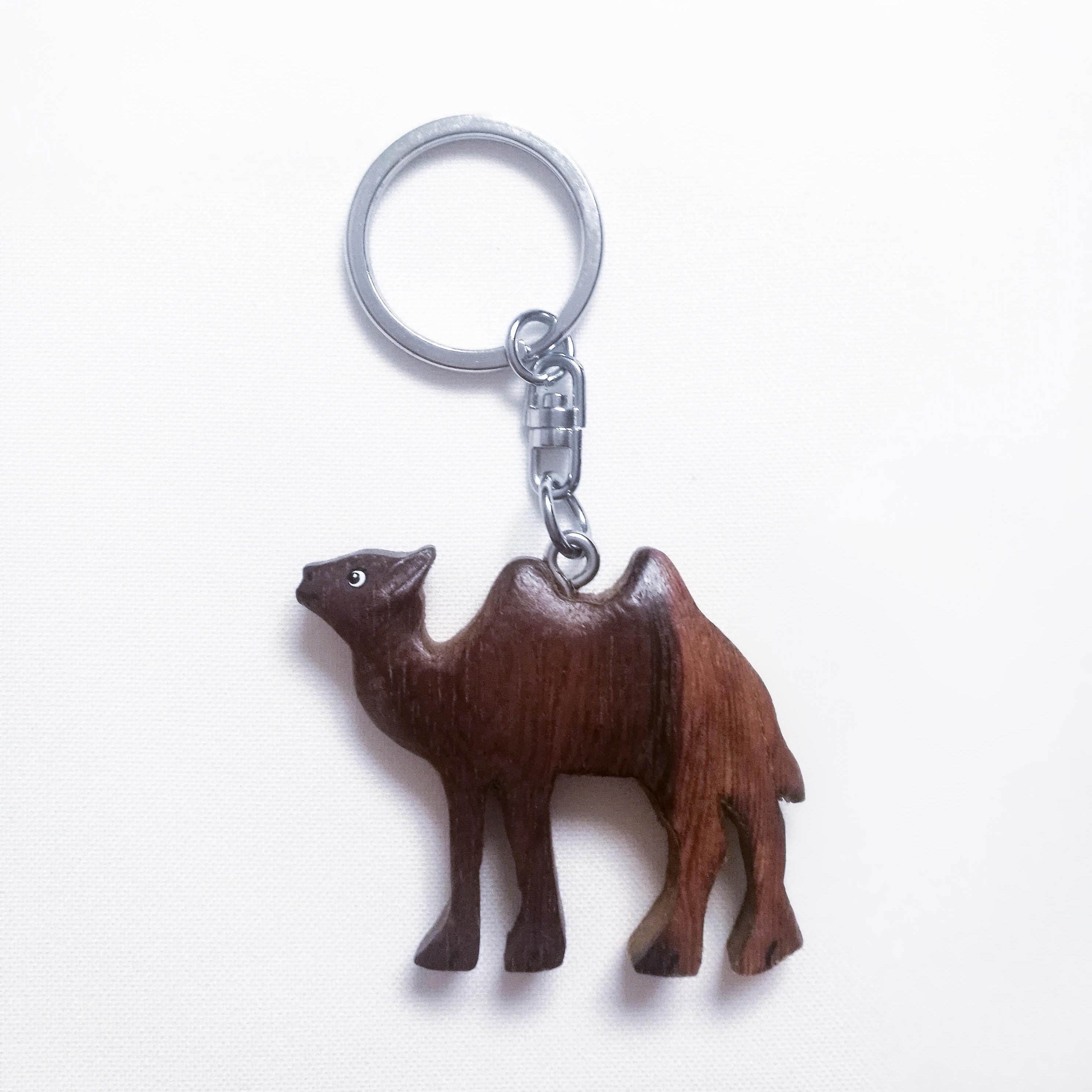 Schlüsselkette aus Holz Kamel