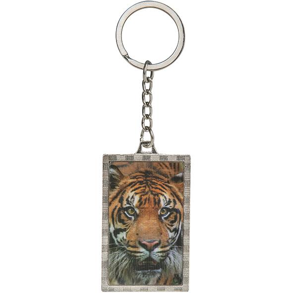 3D Schlüsselanhänger aus Metall: Tiger
