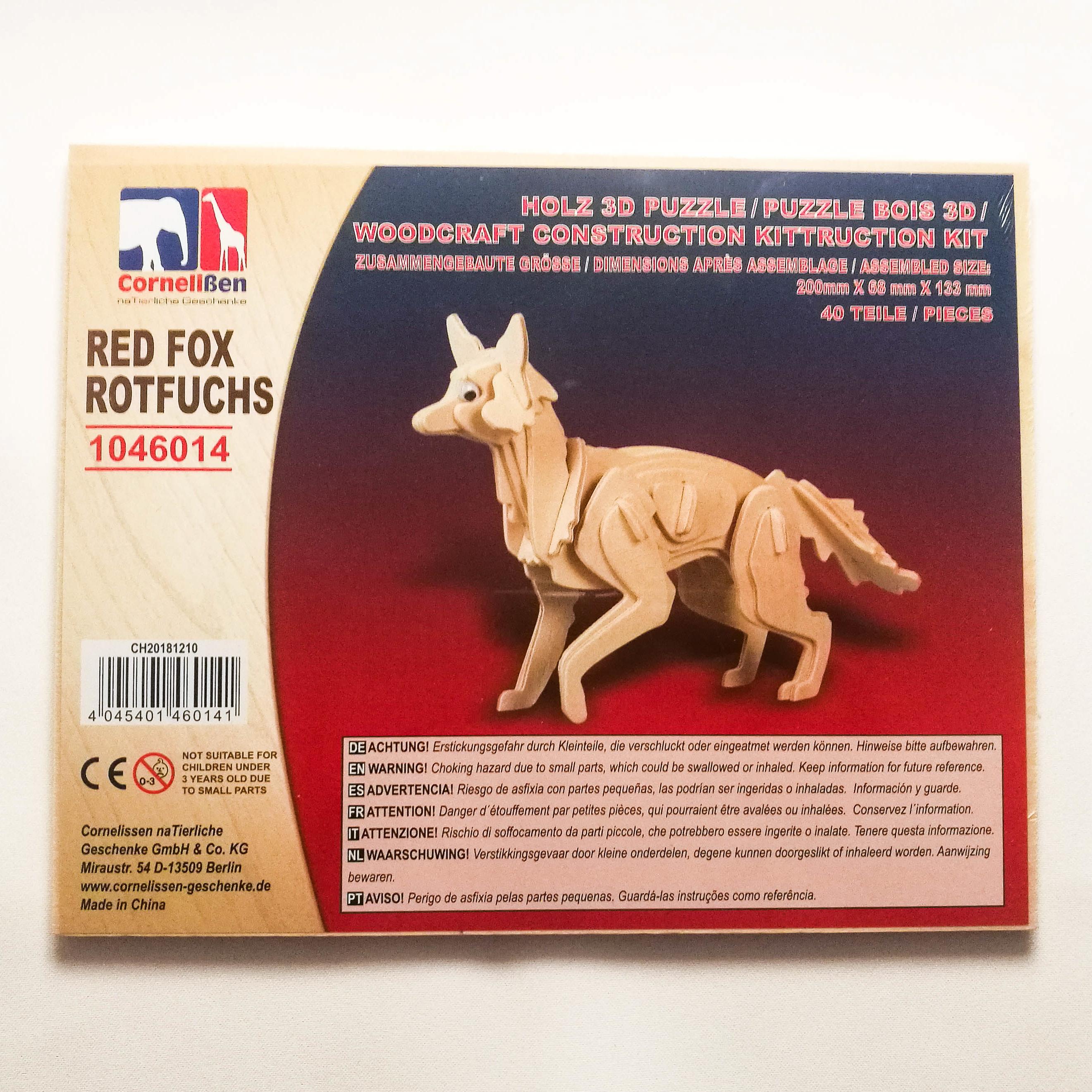 Holz 3D Puzzle Fuchs
