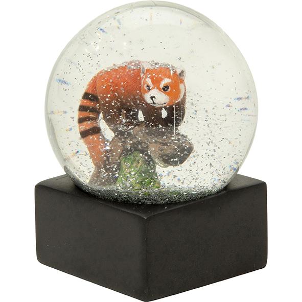 Große Schneekugel: Roter Panda