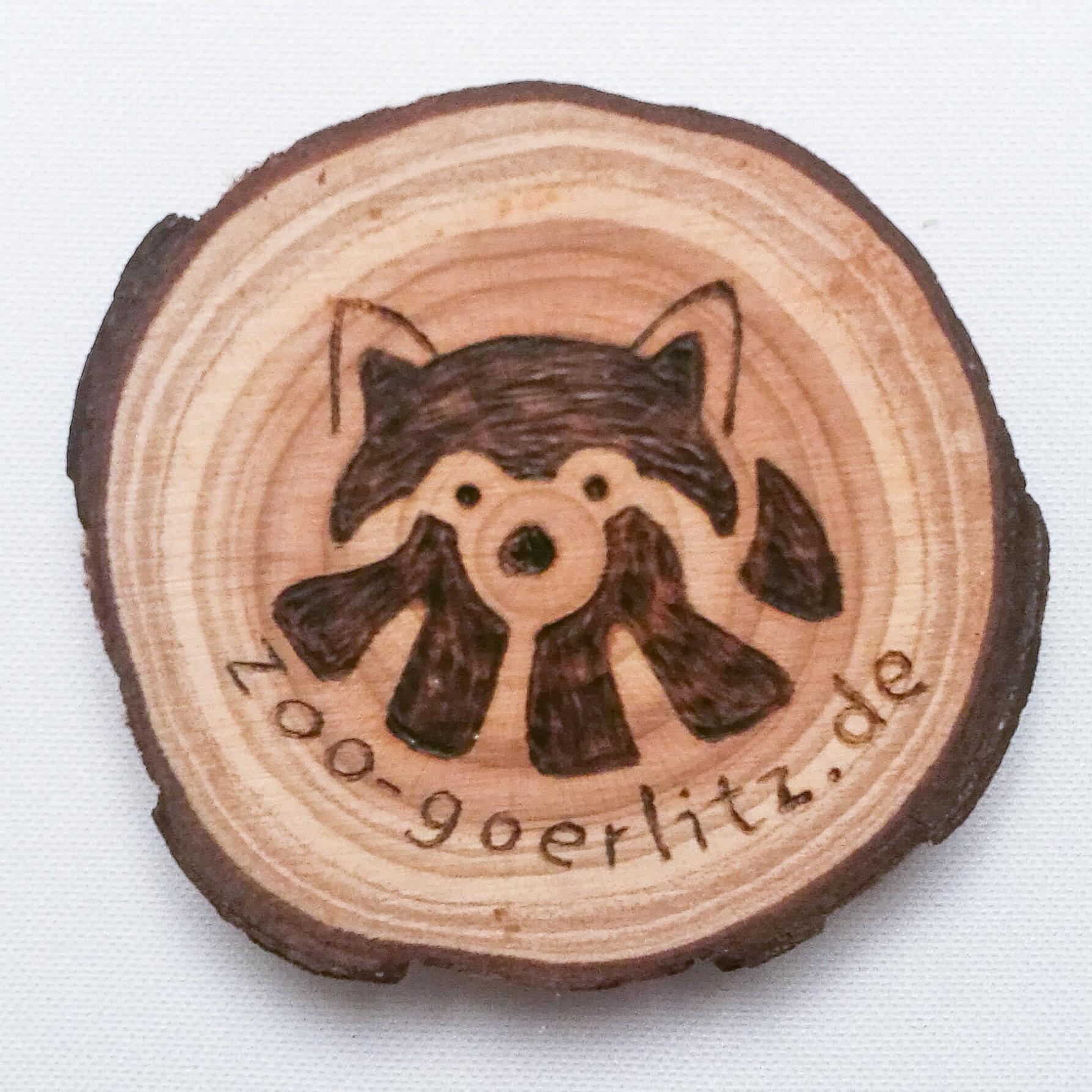 Brandmalerei  Holz-Magnet