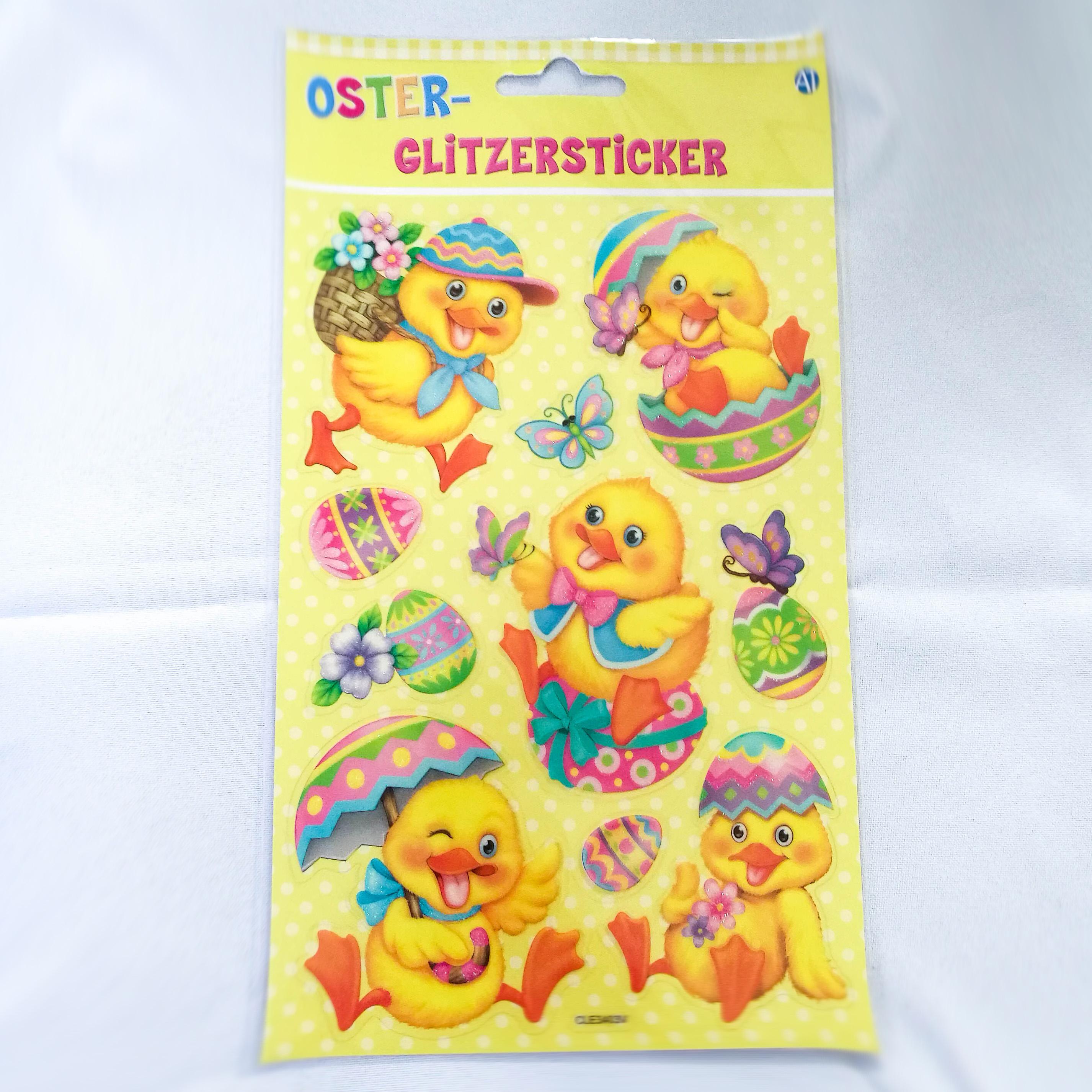 Oster-Glitzersticker