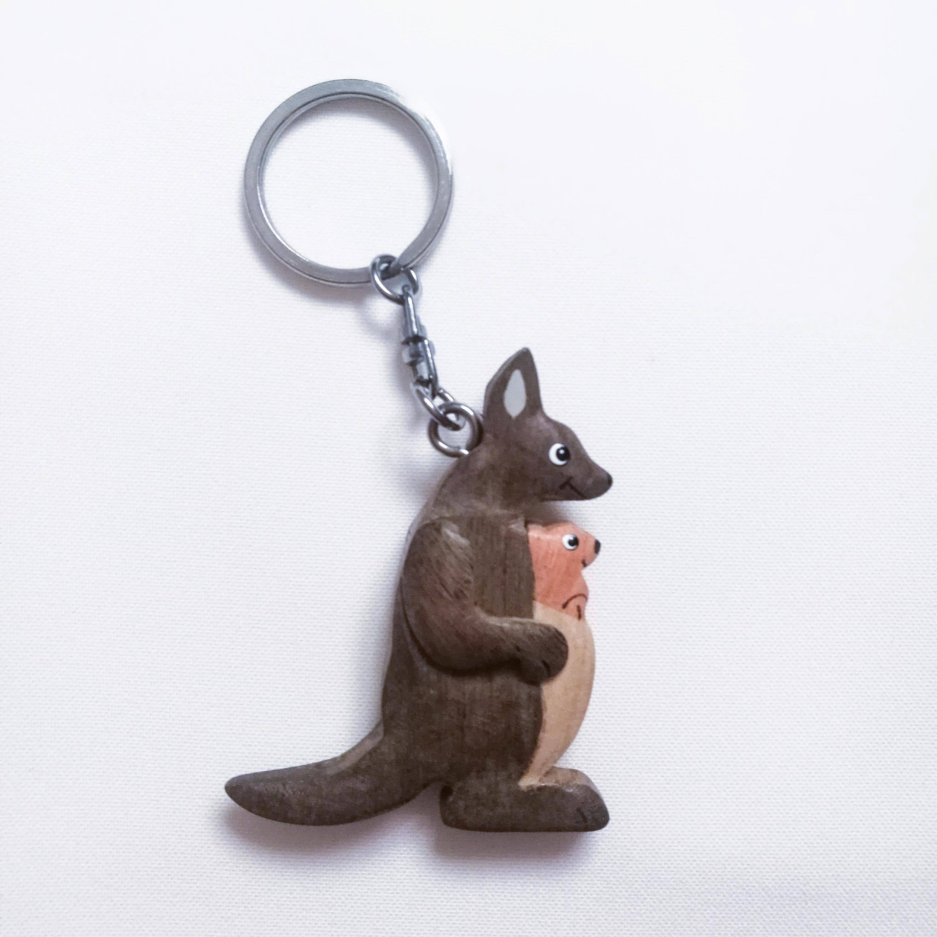 Schlüsselkette aus Holz Känguru