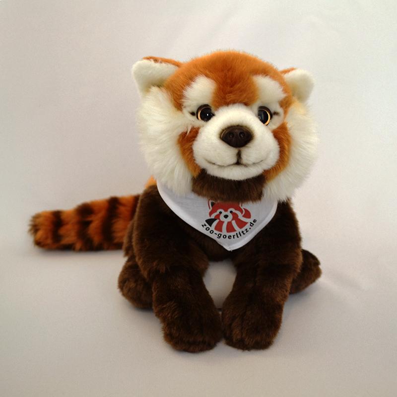 Plüschtier Roter Panda mit Halstuch oder T-Shirt, groß (38 cm)