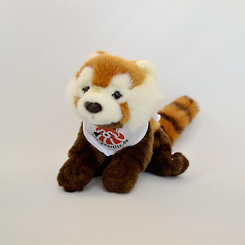 Plüschtier Roter Panda mit Halstuch oder T-Shirt, klein (25 cm)