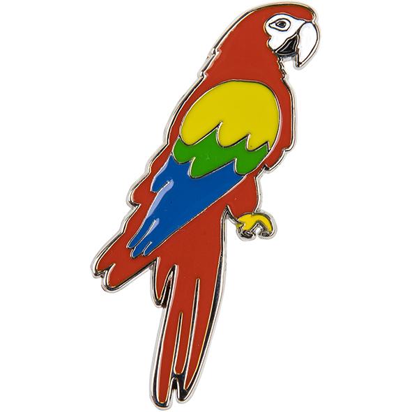 Magnet aus Metall: Papagei