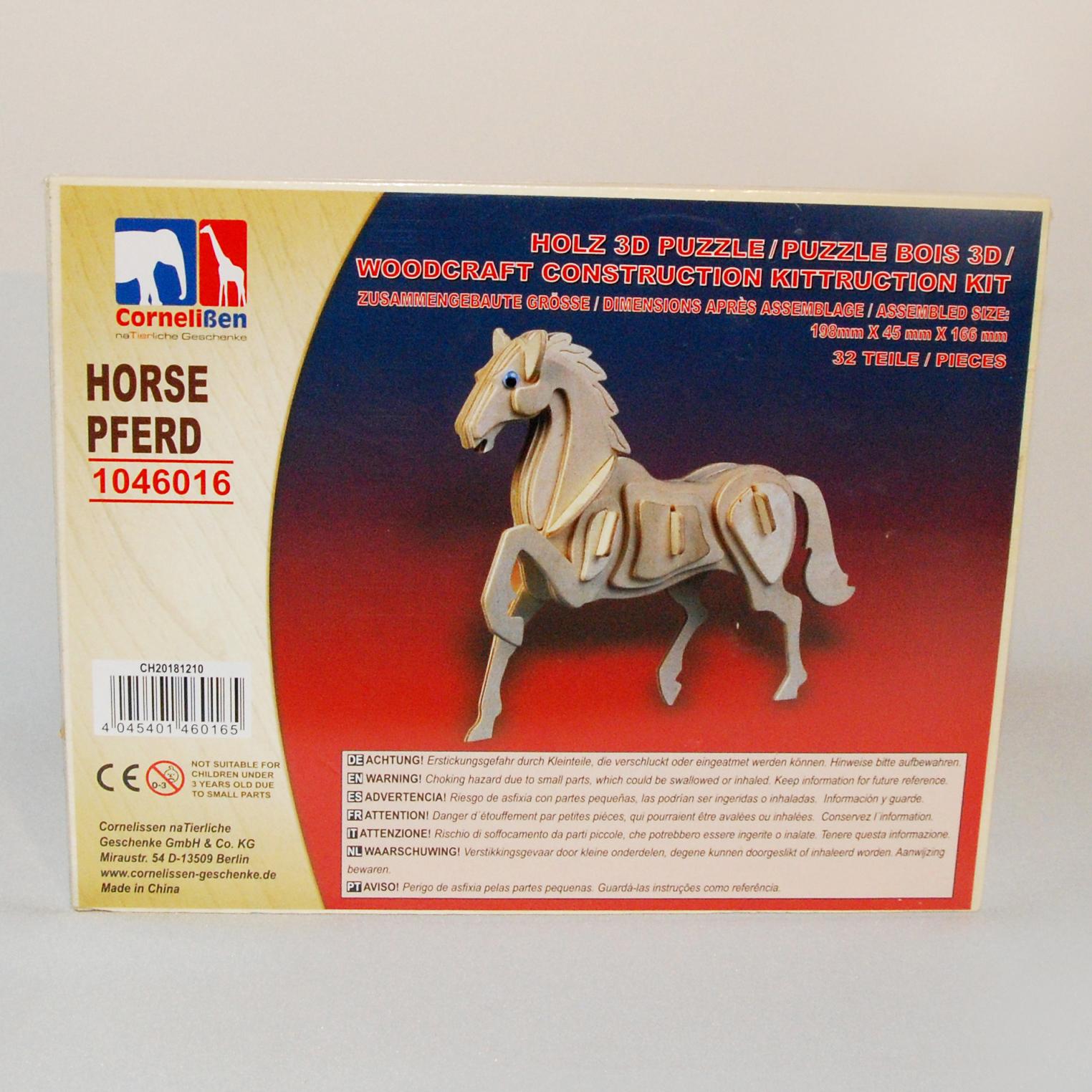 Holz 3D Puzzle Pferd